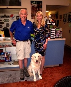 Owners Bill and Debbie Johnson along with company mascot Turk.