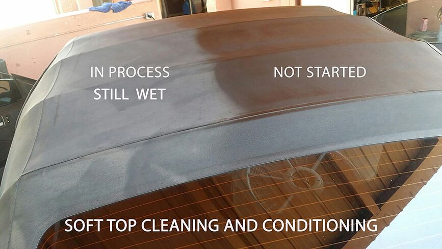 Soft Top Cleaning and Conditioning