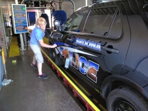 e Sedona Police department gets their cruisers serviced at Cleaner Quicker.